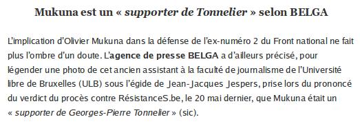 Olivier Mukuna est un supporter de Georges-Pierre Tonnelier